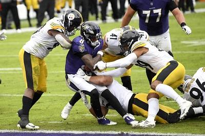 Isaiah Buggs, Lamarr Jackson, Robert Spliane, Steelers vs Ravens