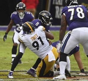 Stephon Tuitt, Lamarr Jackson, Steelers vs Ravens
