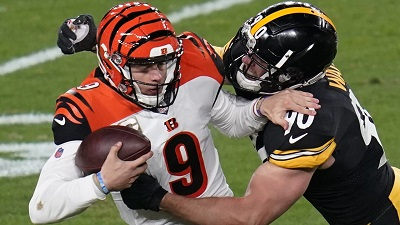 T.J. Watt, Joe Burrow, Steelers vs Bengals