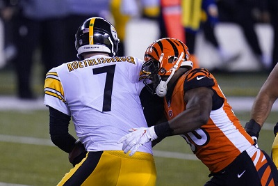 Ben Roethlisberger, Carl Lawson, Steelers vs Bengals