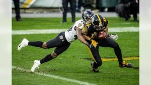 Marlon Humphery, Chase Claypool, Steelers vs Ravens