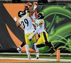 Minkah Fitzpatrick, Tyler Boyd, Joe Haden, Steelers vs Bengals
