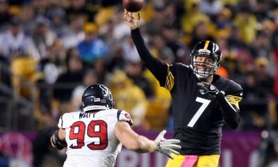J.J. Watt, Ben Roethlisberger, Steelers vs Texans