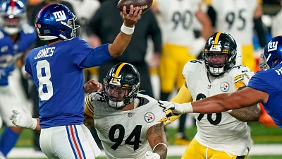 Tyson Alualu, Steelers vs Giants, Daniel Jones