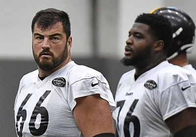 David DeCastro, Chukwuma Okorafor, Steelers practice