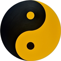 Black and Gold Yin and Yang