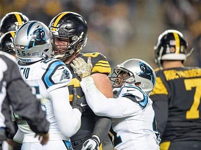 David DeCastro, Eric Reid, Ben Roethlisberger, Steelers vs Panthers
