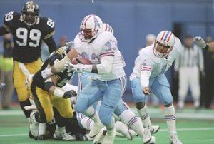 Gary Brown, Levon Kirkland, Warren Moon, Steelers vs Oilers, Steelers Oilers 1993 Pittsburgh