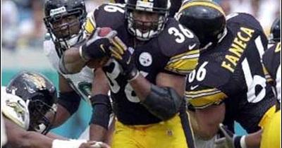 Jerome Bettis, Steelers vs Jaguars