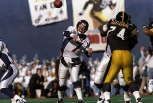 John Elway, Nolan Harrison, Steelers vs Broncos