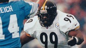 Levon Kirkland, Frank Reich, Steelers vs Lions