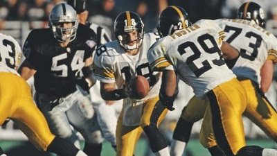 Mike Tomczak, Barry Foster, Steelers vs Raiders