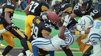 Steelers Colts AFC Championship, Aaron Bailey, Randy Fuller, Jim Harbaugh Hail Mary AFC Championship