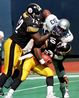 Kordell Stewart, Phil Daniels, Wayne Gandy, Steelers vs Seahawks