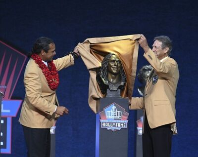 Dick LeBeau, Troy Polamalu, Pro Football Hall of Fame