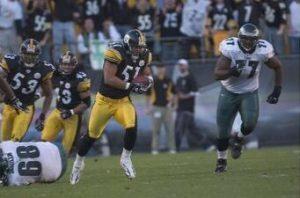James Farrior, Steelers vs Eagles, Troy Polamalu, Clark Haggans