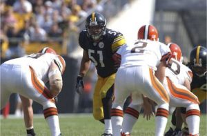 James Farrior, Steelers vs Browns