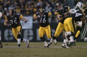 Jerome Bettis, Alan Faneca, Dan Kreider, Steelers vs Jets