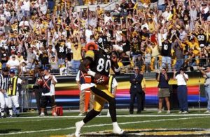 Plaxico Burress, Steelers vs Browns