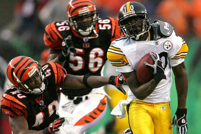 Santonio Holmes, Steelers vs Bengals