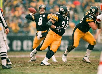 Tommy Maddox, Jerome Bettis, Alan Faneca, Steelers vs Browns
