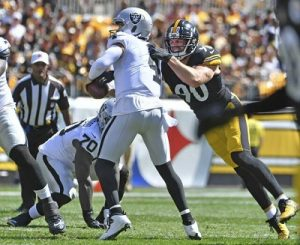 T.J. Watt, Steelers vs Raiders, Derek Carr