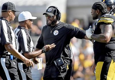 Trai Turner, Mike Tomlin, Steelers vs Raiders